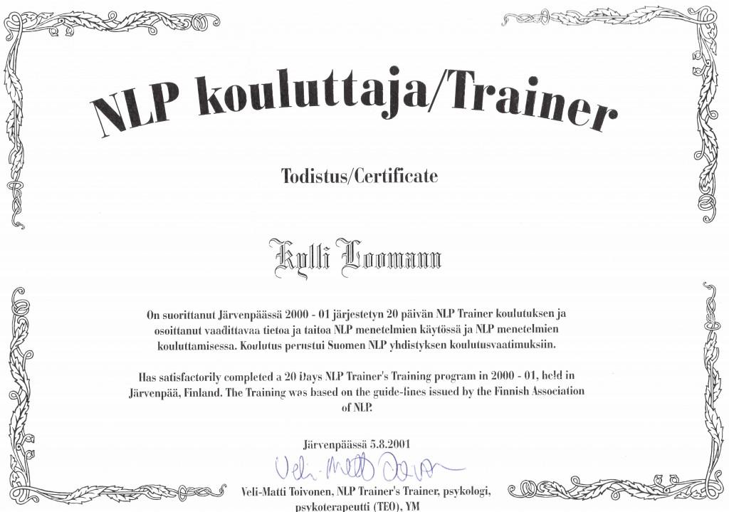 Külli sertifikaat